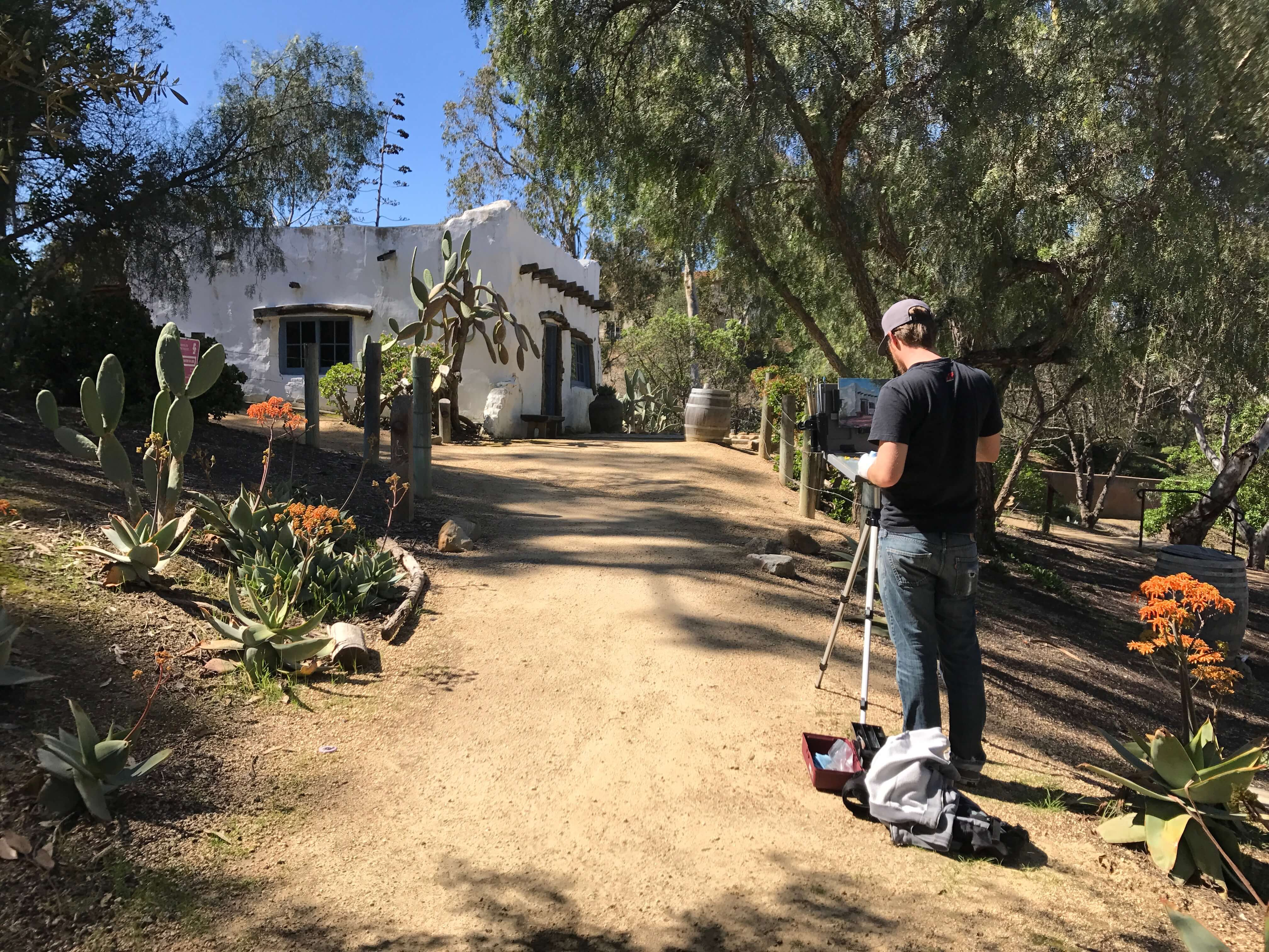 Painter at Leo Carrillo Ranch Carlsbad